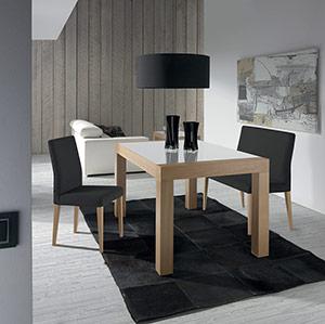 Mesa 248, silla y banco 557