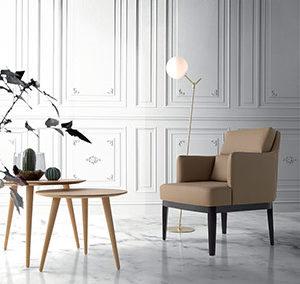 Mesa Vainilla y sillón Lino