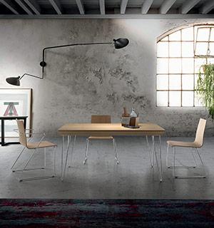 Mesa Iris, silla y sillón Pita