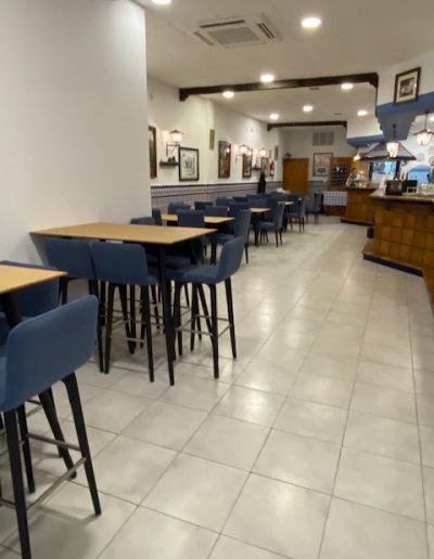Mobiliario fondo Restaurante El Puerto